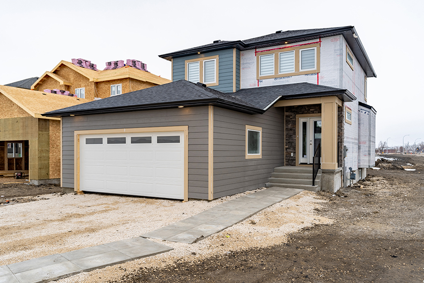 1. Front Exterior - 4 Merkel Manza The Dawson Broadview Homes Winnipeg