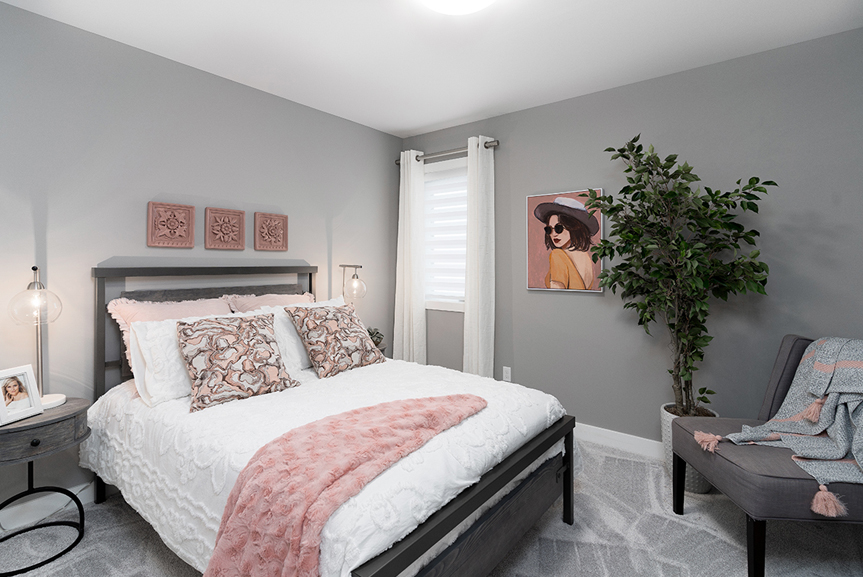 15. Secondary Bedroom - 4 Merkel Manza The Dawson Broadview Homes Winnipeg
