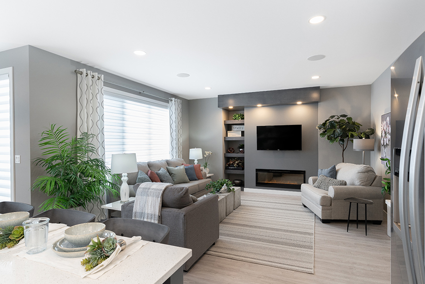 8. Great Room - 4 Merkel Manza The Dawson Broadview Homes Winnipeg