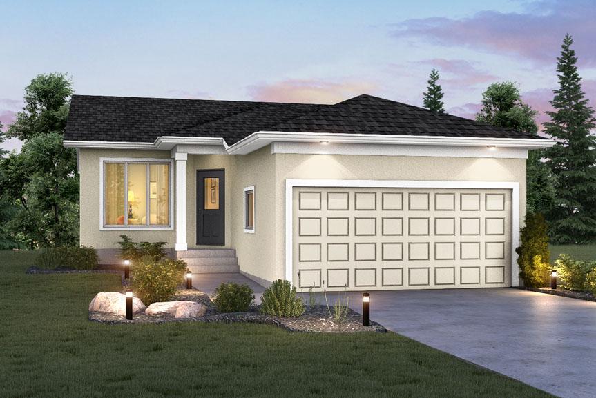 Contemporary Home Exterior With Stucco Finish