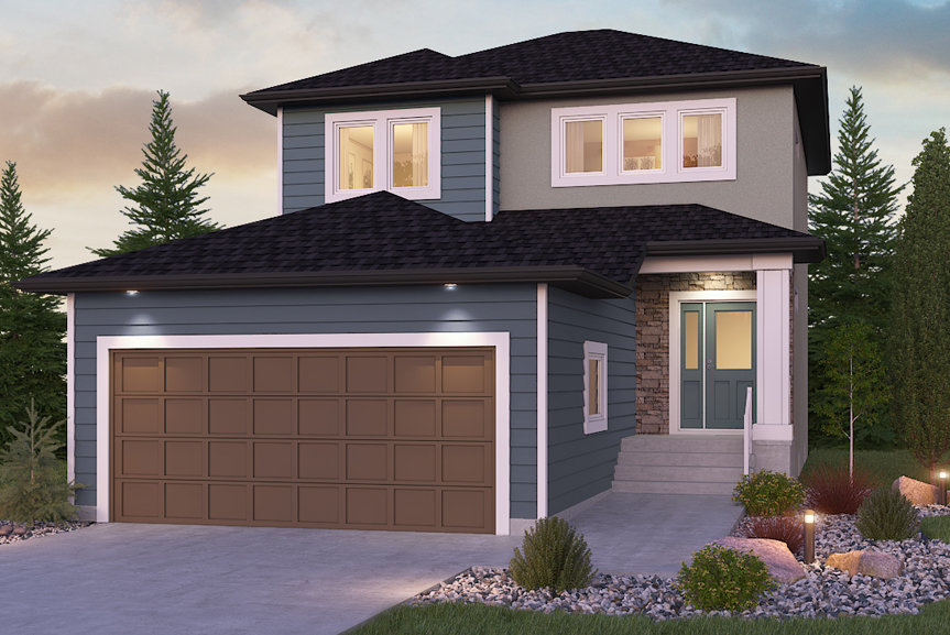1. Front Exterior - DG 11 A The Dawson Broadview Homes Winnipeg