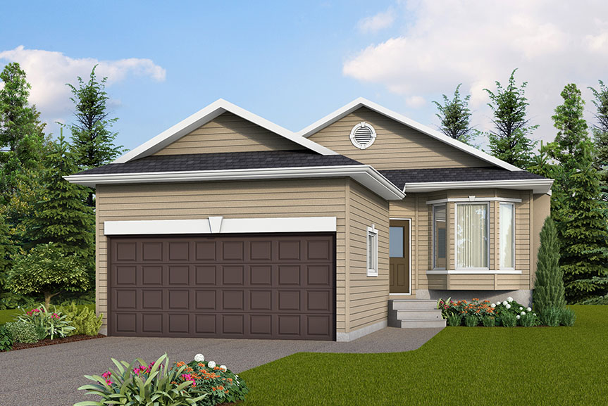 Contemporary Home Exterior with Vinyl Siding and Smart Start Detail