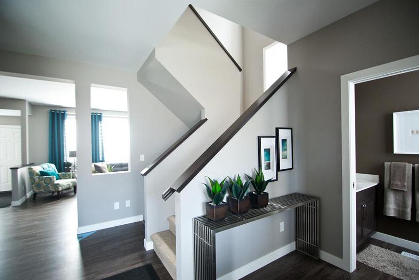 Contemporary Open Concept Main Floor with Vinyl Plank Flooring