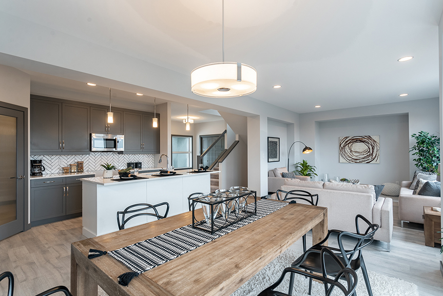 7. Eating Area and Great Room - 221 Petryk Terrace Broadview Homes DG 15 A