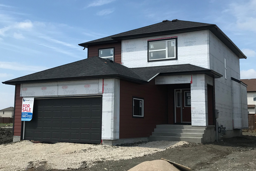 1. Front Exterior - 7 Fieldhouse The Avalon DG 15 A Broadview Homes Winnipeg