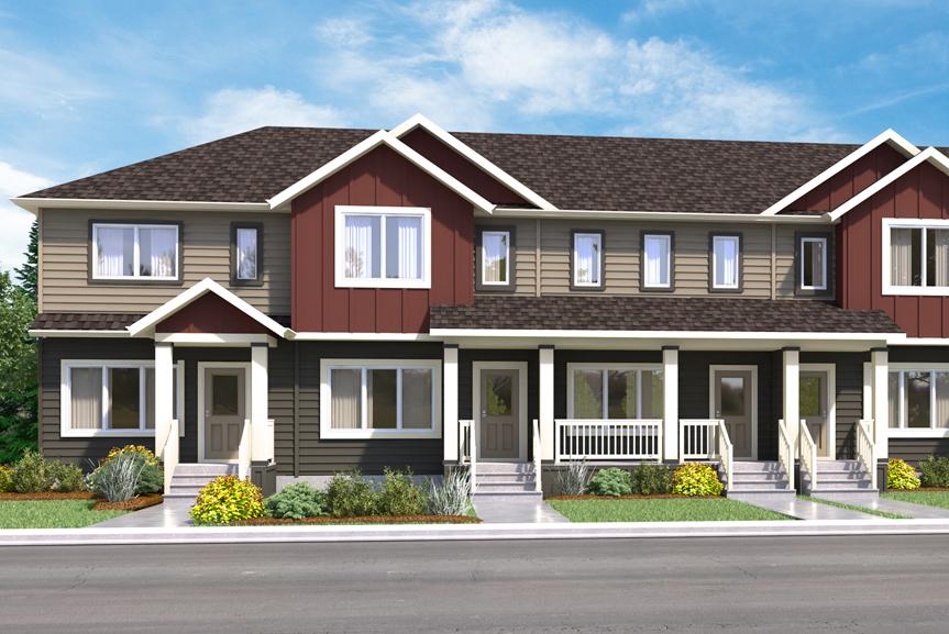 TH 5 The Newport Elevation B Broadview Homes Winnipeg