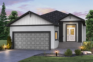 DG 23 The Grayson Elevation with Stucco Broadview Bungalow Home Plans
