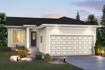 DG 26 A The Elwood Elevation with Stucco Broadview Homes Bungalow