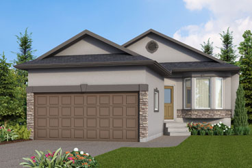 DG 32 A The Elyse Elevation with Stucco and Brick Broadview Homes Bungalow