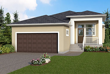 DG 33 A The Heritage Elevation with Stucco Broadview Homes Bungalow