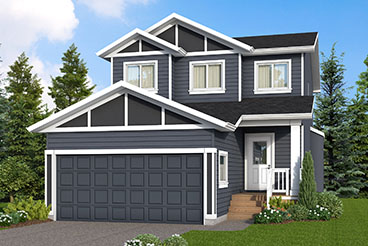 DG 37 C The Hawthorne Elevation with Vinyl Siding and Front Porch Broadview Homes 2-Storey