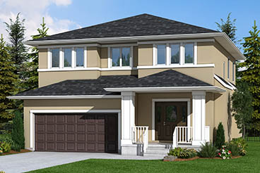 DG 40 A The Sequoia Elelevation  with Stucco and Smart Start Broadview Homes 2-Storey