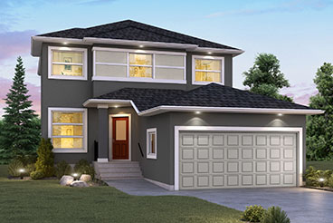 DG 44 E The Monteray Elevation with Stucco Broadview Homes 2-Storey
