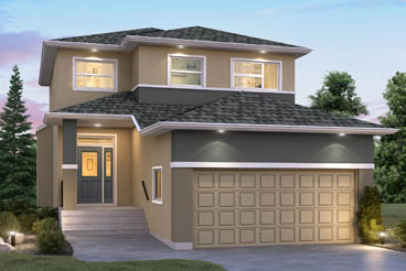 DG 9 C The Aurora Elevation with Stucco Broadview Homes 2-Storey