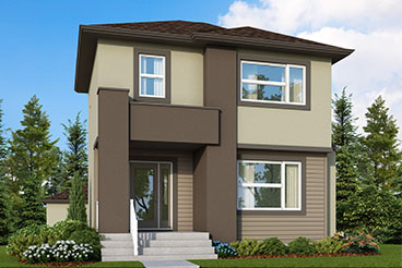 RG 106 C The Mendoza Elevation with Vinyl Siding and Stucco Broadview Homes 2-Storey