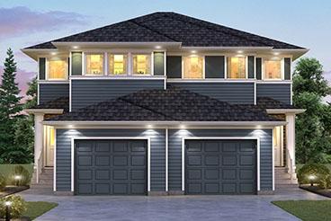 SGA 10 The Seabring Elevation with Vinyl Siding Broadview Homes Duplex