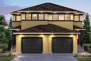 SGA 11 C The Saddlebrook Elevation with Vinyl Siding Broadview Homes Duplex