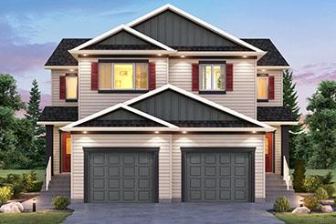 SGA 8 B The Seacrest Elevation with Vinyl Siding Broadview Homes Duplex