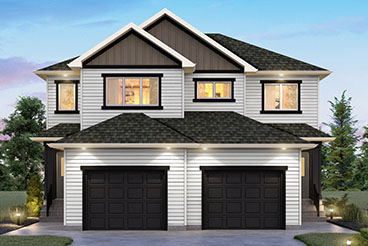 SGA 9 The Seabrook Elevation with Vinyl Siding Broadview Homes Duplex